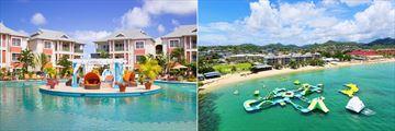Lagoon pool and water park at Bay Gardens Beach Resort