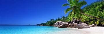 The beach at Praslin