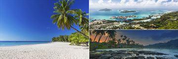 Beau Vallon Beach and Island Landscapes, Mahe