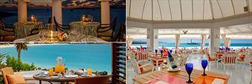 Pimms Restaurant, Breakfast Terrace and Blue Restaurant at Belmond Cap Juluca