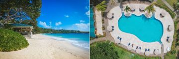 Bequia Beach Hotel, Friendship Beach and Aerial View of Main Pool
