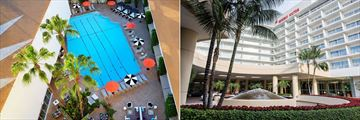 Beverly Hilton, Aqua Star Pool and Exterior