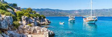 Boats near Fethiye, Turkey