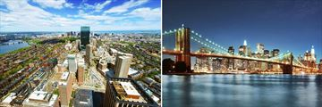 Skylines of Boston & New York City