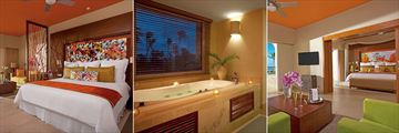 Breathless Punta Cana Resort & Spa, Junior Suite Ocean View Master, Bathroom and Master Living Room