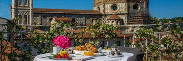 The Pool Suite terrace at Brunelleschi Hotel