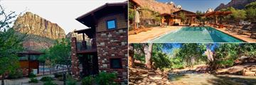 Cable Mountain Lodge, Exterior Lodge Mountain, Pool and River Views