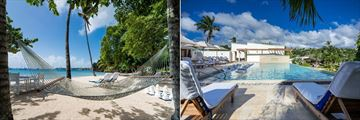 Calabash Luxury Boutique Hotel & Spa, Beach and Giant Chess Board and Main Pool