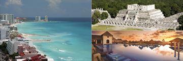 Beachfront, Chichen Itza and a Resort Pool, Cancun