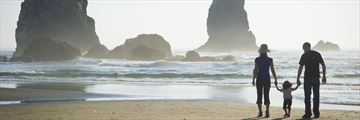 Family time on Cannon Beach, Oregon
