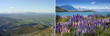 The Canterbury Plains & Mountain views from Lake Tekapo, South Island