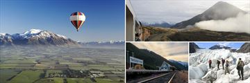Canterbury Plains, TranzAlpine Train, Arthur's Pass & Franz Josef Glacier, South Island