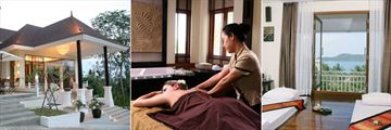 Cape Panwa, Spa Exterior and Treatment Rooms