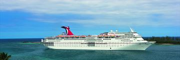 Carnival Ecstacy cruising via South Beach, Florida