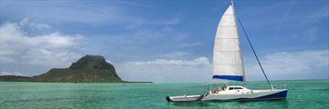 Catamaran sailing in Mauritius