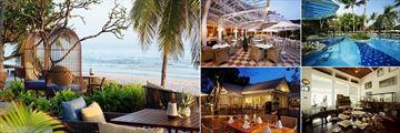 Centara Grand Beach Resort & Villas Hua Hin, (clockwise from left): Coast Beach Club & Villas, Railway Restaurant, Railway Restaurant Pool, The Museum and Suan Bua Restaurant
