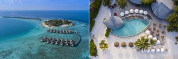 Centara Ras Fushi Resort & Spa, Aerial View of Resort and Pool
