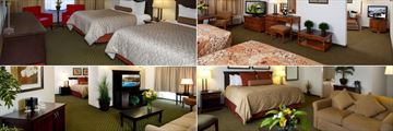 Chateau Jasper, (clockwise from top left): Double Room, Family Room, Junior Executive Suite and King Executive Suite