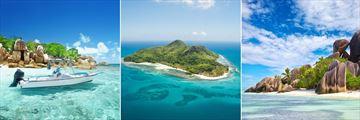 Coco Island, St Anne Marine Park island & Anse Source D'Argent Beach, La Digue