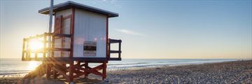 Lifeguard hut along Cocoa Beach