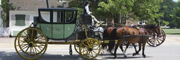 Colonial carriage rides in Williamsburg