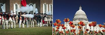 Colonial Williamsburg & US Capitol Building in Washington, D.C