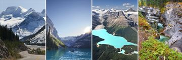 Scenery of the Columbia Icefield, Lake Louise, Peyto Lake & Maligne Canyon in Jasper