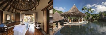 Constance Ephelia, Seychelles, U Spa Treatment Room and U Spa Village