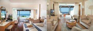 Junior Suite and One Bedroom Executive Suite at Constantinou Bros Athena Beach Hotel