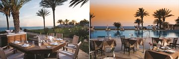 Palm Tree Restaurant and Leda Italian Restaurant at Constantinou Bros Athena Beach Hotel