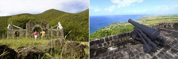 Cottle Church, Nevis & Brimstone Hill Fortress, St Kitts