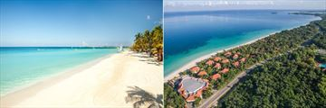 Couples Swept Away, Seven Mile Beach and Aerial View of Resort