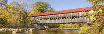 Covered bridge in North Conway, New Hampshire