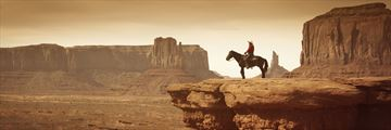 Cowboy in Monument Valley