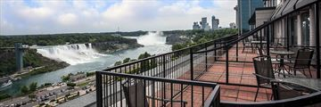 Balcony View of the Falls at Crowne Plaza Fallsview