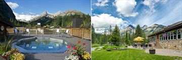 Hot Tub and Exterior Views in Summer at Deer Lodge