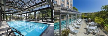 Indoor Pool and Pool Patio at Delta Hotels by Marriott Victoria Ocean Pointe Resort