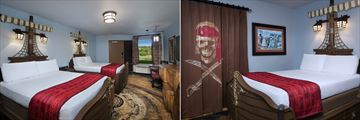 Pirate Bedrooms at Disney's Caribbean Beach Resort