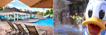 Paddock Grill Restaurant and Pool and Kids Pool at Disney's Saratoga Springs Resort & Spa