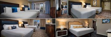 Disney's Yacht & Beach Club Resorts, Club Level Yacht Club Rooms (clockwise from top left): Admiral Suite, Captains Deck Suite, Turret Suite and Presidential Suite