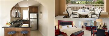 Divi Village All Inclusive Villas, Studio Suite Kitchen, Balcony and Living Area