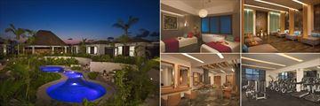 Dreams Playa Mujeres Golf & Spa Resort, Spa Watsu Pool, Spa Treatment Room, Spa Relaxation Area, Fitness Centre and Beauty Salon