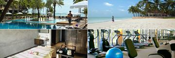 Dusit Thani Hua Hin, Main Pool, Beach, DFiT Fitness Centre and Devarana Spa Treatment Room