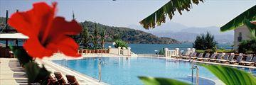 The main pool at Ece Saray Marina & Resort