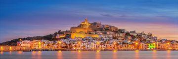 Eivissa capital at sunset, Ibiza