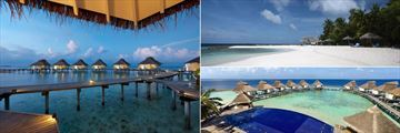 Ellaidhoo Maldives by Cinnamon, Water Bungalows, Beach and Aerial View of Pool and Water Bungalows