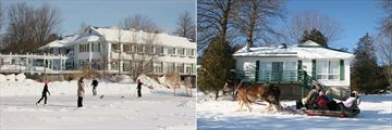 Elmhirst's Resort, Skating on the Lake and a Sleigh Ride in Front of a Cottage
