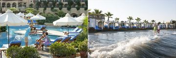 Pool service and beach cabanas at Elysium