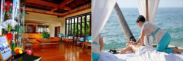 Emerald Cove Resort, Koh Chang, Emerald Spa Reception and Beach Massage