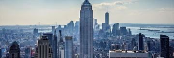 Manhattan skyline and the Empire State Building
